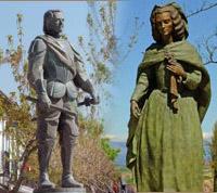 Monumentos en honor de Felipe IV y Mariana de Austria en Navalcarnero