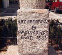 Detalle Cruz del Arciprestazgo. Calle de la Constitución