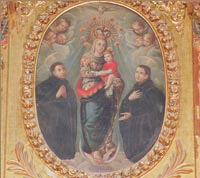 Anónimo, La Virgen con San Estanislao de Kostka y San Luis Gonzaga (Retablo de la Virgen del Carmen. Iglesia de Ntra. Sra. de la Asunción).