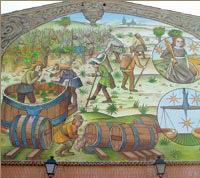 Oficios siglo XV. Pintura mural C/ Tío Canor