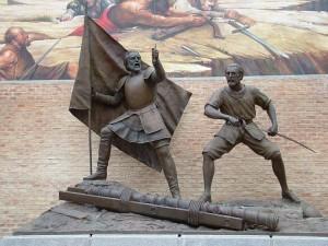 Detalle de escultura - Plaza de Alonso Arreo