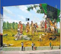 Elección del primer concejo de Navalcarnero. Pintura mural Plaza V Centenario.