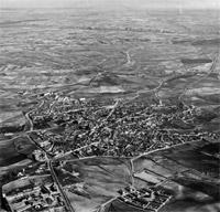 Vista aérea de Navalcarnero en los años 60