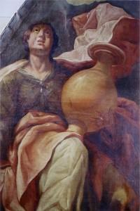 Detalle de pintura de San Andrés - Capilla de la Virgen - Iglesia Parroquial Nª Señora de la Asunción