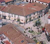 Vista aérea de Navalcarnero. Plaza de la Puerta del Sol