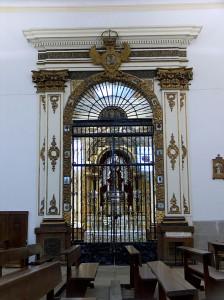 Portada de la capilla de la Virgen en la Iglesia Parroquial Nº Señora de la Asunción