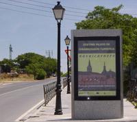 Entrada al municipio. Cartel de entrada por Aldea del Fresno