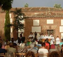 Actos religiosos en la ermita de San Roque