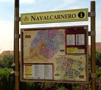 Panal de Información Turística en la zona suroeste del Pozo Concejo