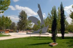 Parque de Los Charcones - Detalle escultura