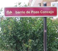 Señalización barrio de Pozo Concejo