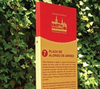 Tótem Turístico Plaza de Alonso de Arreo