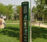 Señalización Zonas Verdes Área Infantil Parque Histórico